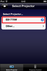 iProjection-Setup-Select